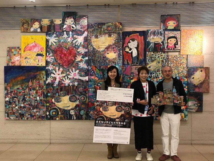絵画展にget in touchのちづるさん、中津川さんがお越しくださいました